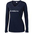 Ladies Long Sleeve V-Neck Performance Shirt