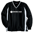 Men's Tipped V-Neck Raglan Windshirt