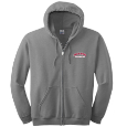 Full Zip Hooded Sweatshirt - Embroidered Decoration