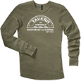 Young Mens Long Sleeve Thermal - Front Heat Press Decoration