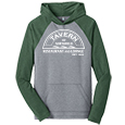Men's Raglan Hoodie - Front Heat Press Decoration