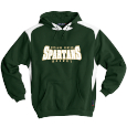 Hooded Sweatshirt with Contrast Color