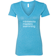 Ladies' Slim Fit Triblend V-Neck T-Shirt