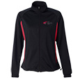 Ladies Soft Knit Polyester Warm-up Jacket with Back Design