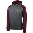 Colorblock Performance Fleece 1/4 Zip Hooded Sweatshirt
