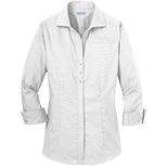 Ladies 3/4 Sleeve Non-Iron Button-Down Shirt