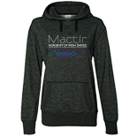 Ladies' Glitter Hooded Pullover
