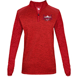 Tonal Blend Ladies 1/4 Zip - BWYBA Logo
