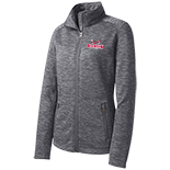 Ladies Digi Stripe Fleece Jacket - Baseball Logo