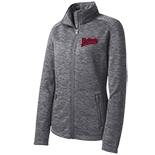 Ladies Digi Stripe Fleece Jacket - Fastpitch Logo