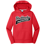 Youth Performance Hooded Sweatshirt - Fastpitch Logo