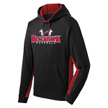 Performance Fleece Colorblock Hooded Pullover - Baseball Logo
