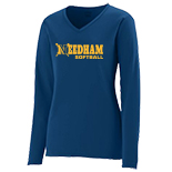 Ladies Long Sleeve Wicking T-Shirt - Softball