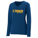 Girls Wicking Long Sleeve T-Shirt - Softball