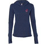 Ladies' Triblend Long Sleeve T-Shirt Hooded Pullover