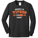 Youth Long Sleeve 100% Cotton T-Shirt