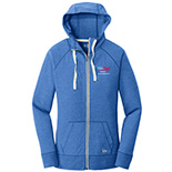 Ladies Sueded Cotton Full-Zip Hoodie