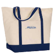 Organic Canvas Boater Tote